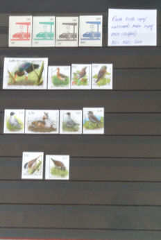 Begium - Selection imperforate railroad stamps and Buzin Birds
