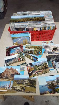 Lot of 2000 postcards from France
