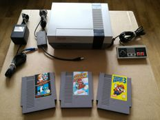 Nintendo NES With 3 Classic Mario Bros. Games
