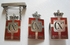 3 Danish King Christian X King Mark  1940 -Georg Jensen sterling silver 925