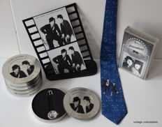 Unique collection of 5 Laurel & Hardy wristwatches - shop display - necktie - video tape.