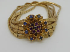 18kt Yellow Gold Bracelet with Sapphires