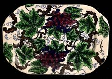 A rare ,  mid 19th Century , Spode , Copeland , octogonal shape , transferware, vines decoration , dish