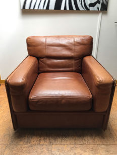 Baxter - 'Miami' cognac leather armchair