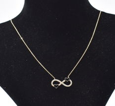 14 K yellow gold Entire necklace ,  chain length :  43 cm