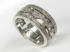 925 silver diamond 0.22 ct ring; ring size: 52 / 16.5 mm