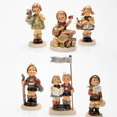 6 Original Goebel Hummel Figurines