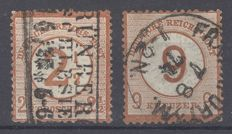 German Reich 1874 - postal stamps - Michel 29/30