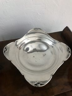 Tray/plate in silver 800