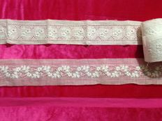 Hand made lace on lino - Late 19th century