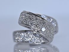 1.37 ct Diamonds twist ring - No reserve price!