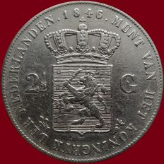 The Netherlands - 2½ guilder 1846 (Lily), Willem II – silver
