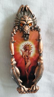 Franklin mint goddess of the sun collectors knife