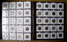 Switzerland - Rappen up to 5 Francs 1850/1995 (441 different ones) w. o. 90 x silver, in a luxurious album.