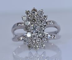 2.17 ct Diamond designer ring - No reserve price!