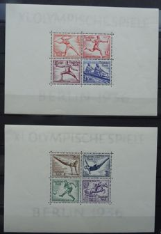 German Reich 1936– Olympic Games – Block 5 + 6