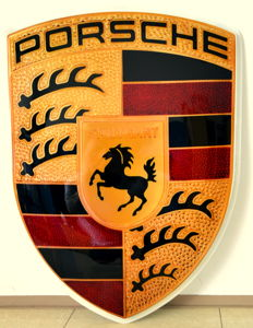 ORIGINAL Porsche advertising sign in the XXL version 124 cm x 95 cm