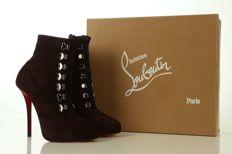 Christian Louboutin purple Troopista 120 ankle boots