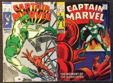 Marvel Comics - Captain Marvel #12 And #13 - Dick Ayers / Frank Springer - 2x SC - (1969)