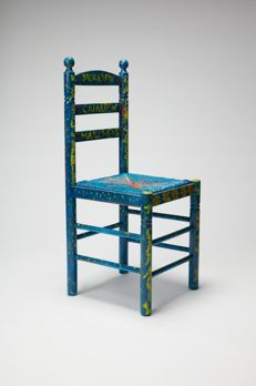 Estrella Morente - Customized wood and wicker chair, 2017