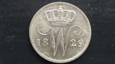 The Netherlands – 25 cents 1829B, Willem I – silver
