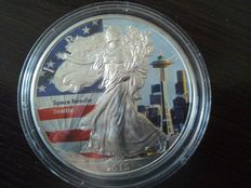 USA – 1 Dollar 2015 'Space Needle Seattle' – 1 oz Silver