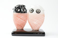 De Mio Giuliano - Pair of collectable owls