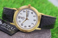 Royal London – Men's Gold Plated Stainless Steel Watch – unworn