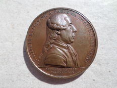 France - 'Révolution française / Jean Sylvain Bailly, Maire de Paris' 1789 medallion by Duvivier - Bronze