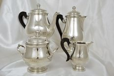 Gallia-  Christofle Tea and Coffee Service, four pieces, Silver plated metal