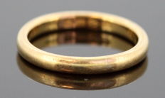 22K yellow gold ring, Chester 1928, Size: (UK) = R (US) = 8 3/4 (EU) = 56 1/4