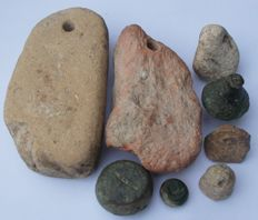 Collection of 8 varied Roman weights (8) 10 mm - 105 mm
