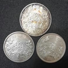 Japan - 1000 Yen 1964 'Olympic Games of Tokyo' (lot of 3 coins) - Silver