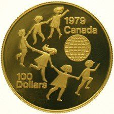 Canada - 100 Dollars 1979 'International Year of the Child' - gold