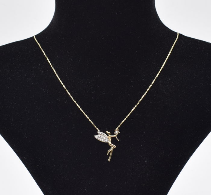 14 k yellow gold fairy necklace chain length 45 cm catawiki 14 k yellow gold fairy necklace chain length 45 cm aloadofball Gallery