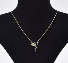 14 K yellow gold Fairy necklace ,  chain length :  45 cm
