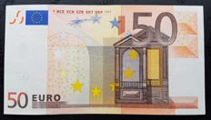 European Union - Spain - 50 Euro 2002 - Duisenberg - without HOLOGRAM  -  White Box,  ERROR  note
