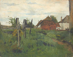 A.  Pol (early 20th c.) - Paysage de campagne hollandaise
