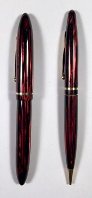 Sheaffer Balance Carmine Fountain Pen + Pencil