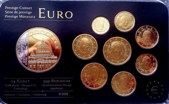 San Marino and Vatican - 1 cent through 2 euro 2010 and 2011 ...