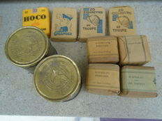 Nice lot of rare tobacco from the French army/ resistance 1940-1945