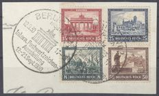 German Empire - Michel 446-449, individual stamps from block 1 on letter piece