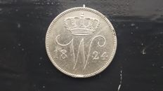 The Netherlands – 25 cents 1824B Willem I – silver