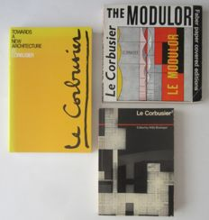 Lot with 3 books on Le Corbusier - 1972 / 1989