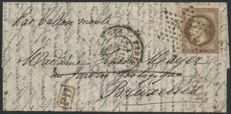 France 1870 - Balloon mail Le Parmentier, destination Belgium with Certificate Robineau