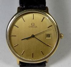 Omega De Ville 1430 - Slim Case - Striated Dial - 1980 - Men's Wristwatch