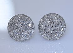 1 ct Diamond circle earrings - No reserve price!