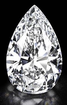 Diamond of 1.01 ct, F SI 1, pear cut
