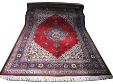 Old about 40 years old TABRIZ Patina in good condition, filling 356 x 256 cm