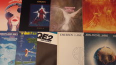 Set of 9 Top Electronic Rock-Music Album (Tomita 2x, Jean Michel Jarre 2x, Mike Oldfield, Emerson Lake & Palmer 2x , Vangelis, Enigma)